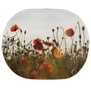 Earth Friendly Summer Flowers Oval Bath Mat