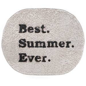 Earth Friendly Best Summer Ever. Oval Bath Mat