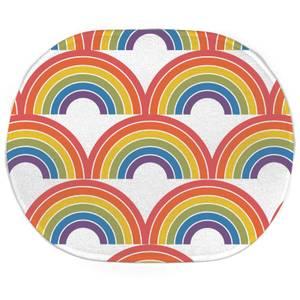 Earth Friendly Rainbows Oval Bath Mat