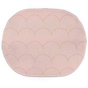 Earth Friendly Trippy Rainbow Pink Oval Bath Mat