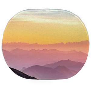 Earth Friendly Rainbow Horizon Oval Bath Mat