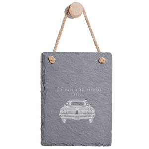I'd Rather Be Driving My Car Engraved Slate Memo Board - Portrait