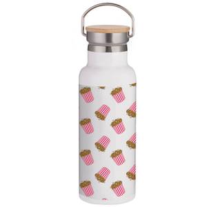 Fried Chicken Portable Insulated Water Bottle - White
