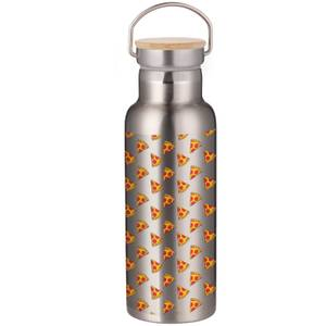 Pizza Portable Insulated Water Bottle - Steel