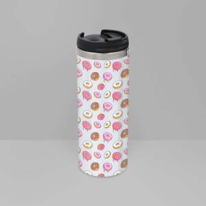 Doughnuts Stainless Steel Thermo Travel Mug
