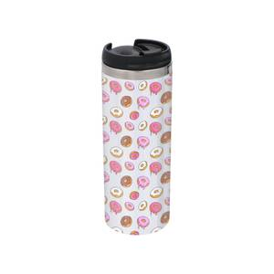 Doughnuts Stainless Steel Thermo Travel Mug - Metallic Finish
