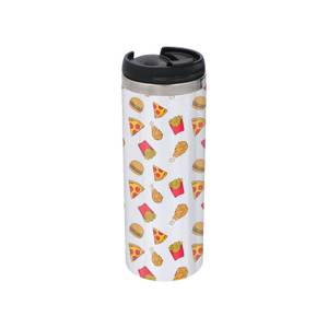 Fast Food Stainless Steel Thermo Travel Mug - Metallic Finish