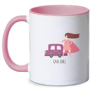 Car Girl Mug - White/Pink