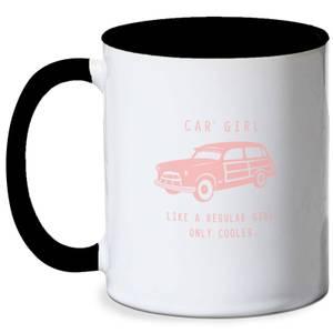 Cool Car Girl Mug - White/Black