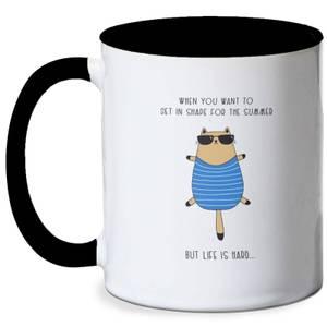 Fat Cat Meme Mug - White/Black