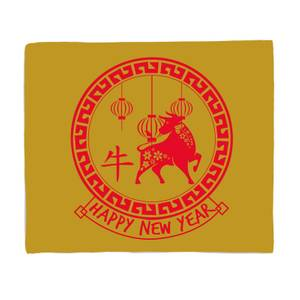 Chinese New Year Fleece Blanket