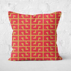 Chinese New Year Pattern Square Cushion