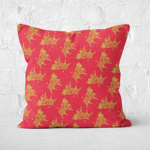 Ox All Over Square Cushion