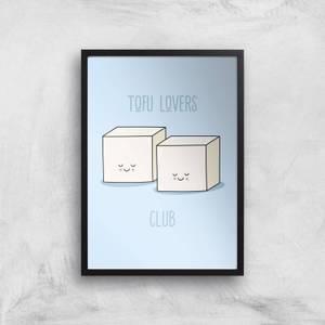 Tofu Lovers Club Giclee Art Print