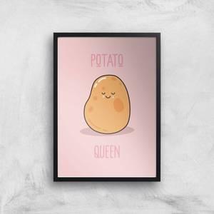 Potato Queen Giclee Art Print