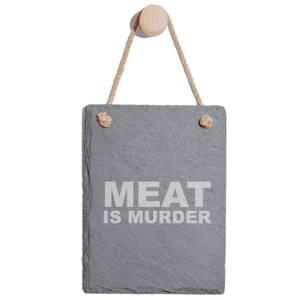 Meat Is Murder Engraved Slate Memo Board - Portrait