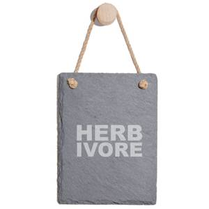 Herbivore Engraved Slate Memo Board - Portrait