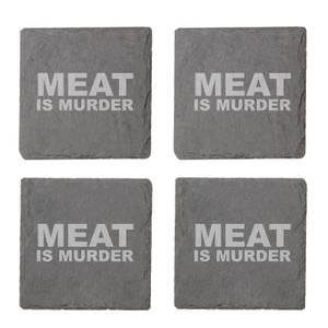 Vegan Collection 2020 Meat Is Murder Engraved Slate Coaster Set