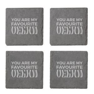 Vegan Collection 2020 You Are My Favourite Vegan Engraved Slate Coaster Set