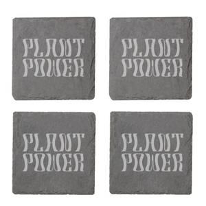 Vegan Collection 2020 Plant Power Engraved Slate Coaster Set