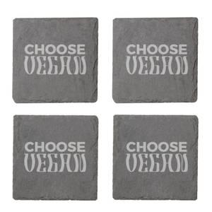 Vegan Collection 2020 Choose Vegan Engraved Slate Coaster Set