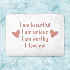 Self-Love Affirmations Bath Mat