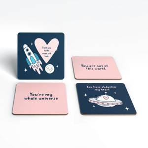 Space Love Coaster Set