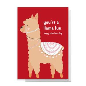 You're A Llama Fun Greetings Card