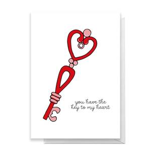 You Have The Key To My Heart Greetings Card