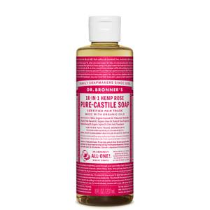 Dr Bronner's Pure Castile Liquid Soap Rose 237ml