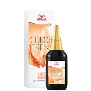 Wella Professionals Color Fresh Semi-Permanent Colour - 5/07 Natural Light Brown 75ml