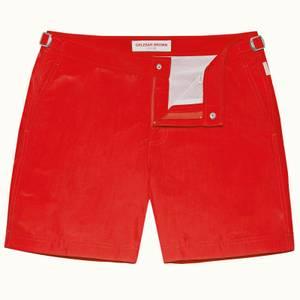 Orlebar Brown Men's Bulldog Mid-Length Swim Shorts - Rescue Red