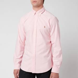 Polo Ralph Lauren Men's Slim Fit Oxford Long Sleeve Shirt - BSR Pink