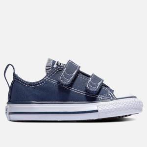 Converse Toddlers' Chuck Taylor All Star Ox Velcro Trainers - Blue