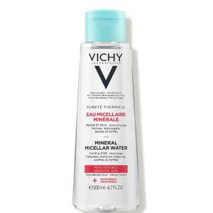Vichy Pureté Thermale 3-in-1 One Step Facial Cleanser for Sensitive Skin, Paraben-Free, Alcohol-Free, 6.7 Fl. Oz.