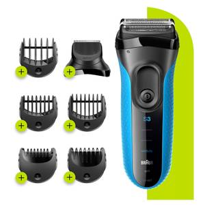 Series 3 ProSkin Shaver with Trimmer Head and 5 Combs