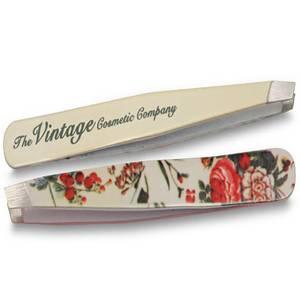 The Vintage Cosmetic Company Floral Slanted Tweezers