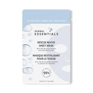 Herbal Essentials Masque en tissu pour le visage Rescue Revive