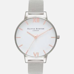Olivia Burton Women's Classics Collection Watch - White & Silver