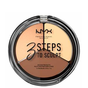 NYX Professional Makeup 3 Steps to Sculpt Face Sculpting Palette - Light