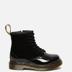 Dr. Martens Toddlers' 1460 T Patent Limper Lace Up Boots - Black