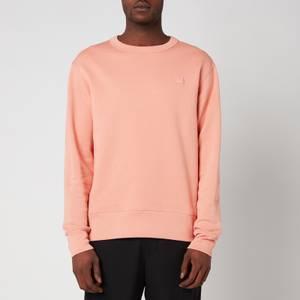 Acne Studios Men's Face Logo Crewneck Sweatshirt - Pale Pink