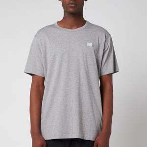Acne Studios Men's Regular Fit Face Patch T-Shirt - Light Grey Melange