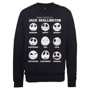 Disney The Nightmare Before Christmas Jack Pumpkin Faces Black Sweatshirt