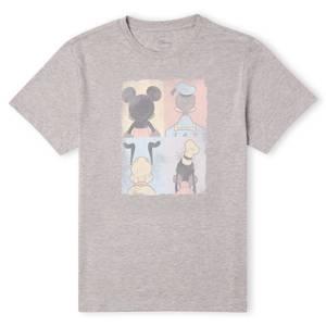 T-Shirt Homme Mickey Mouse Donald Duck Pluto Dingo (Disney) - Gris