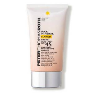 Peter Thomas Roth Max Mineral Naked Broad Spectrum SPF45 UVA/UVB Protective Lotion 50ml