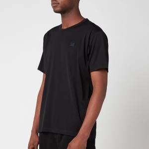 Acne Studios Men's Face Logo Crewneck T-Shirt - Black