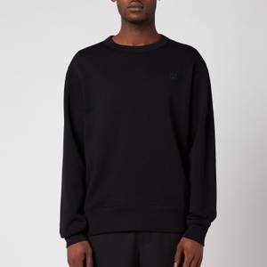 Acne Studios Men's Face Logo Crewneck Sweatshirt - Black