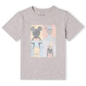 T-Shirt Enfant Disney Donald Duck Mickey Mouse Pluto Dingo - Gris