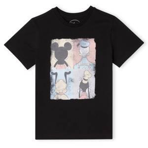 T-Shirt Enfant Disney Donald Duck Mickey Mouse Pluto Dingo - Noir